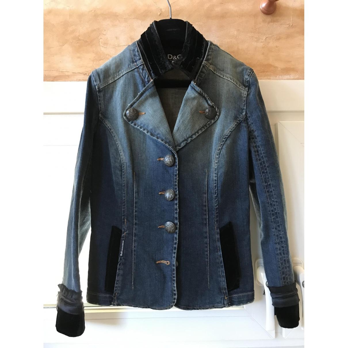 D&g \N Blue Denim - Jeans jacket for Women 44 FR