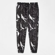 Men Graphic Print Drawstring Waist Sweatpants