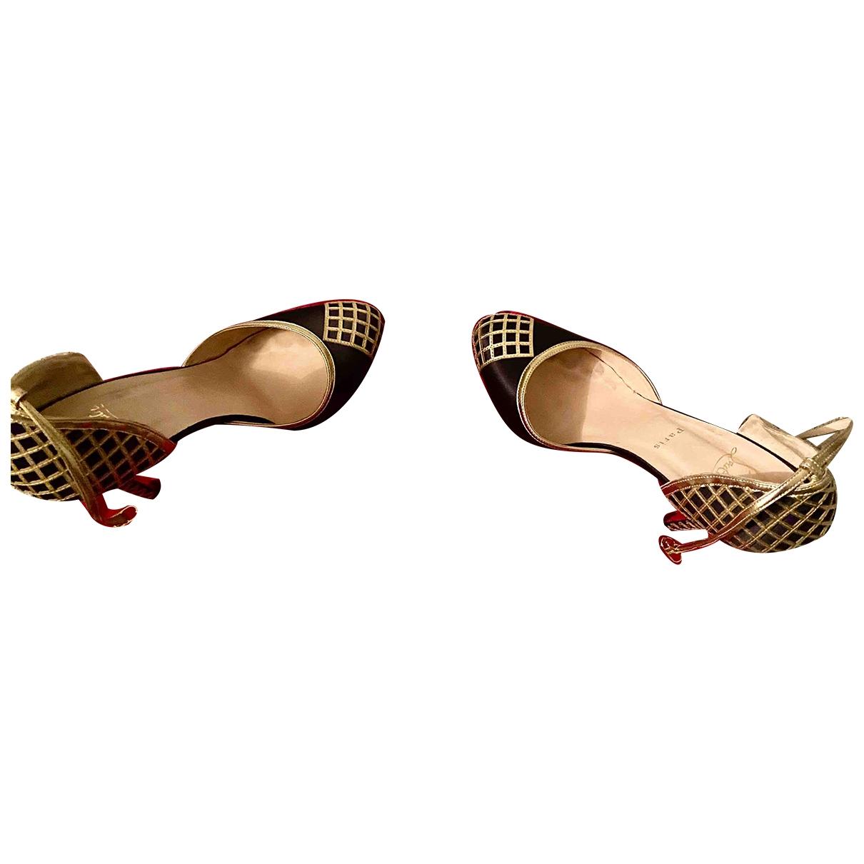 Christian Louboutin \N Metallic Cloth Heels for Women 41.5 EU