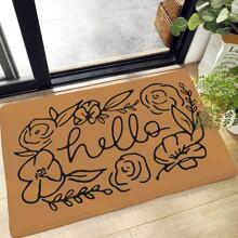 Abstract Flower Pattern Floor Mat