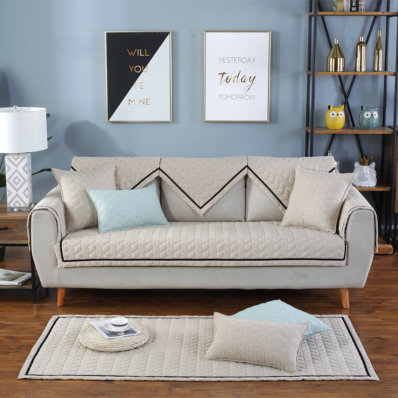 Cotton Anti-Slip Country Style All Seasons Easy-Going Sofa Covers