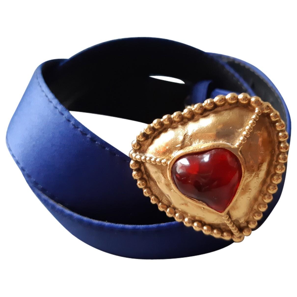 Yves Saint Laurent \N Blue Cloth belt for Women M International
