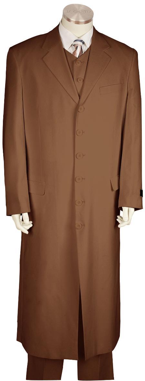 6 Button Brown Long Zoot Suit Mens