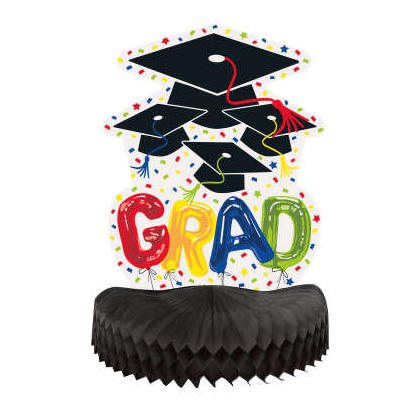 Letter Balloon Grad Honeycomb Centerpiece, 10