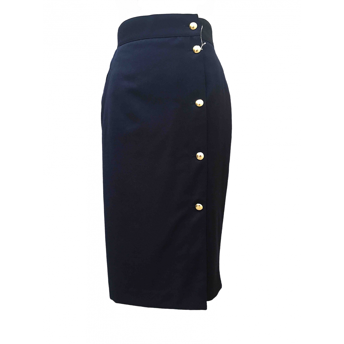 Non Signé / Unsigned \N Blue Wool skirt for Women 42 IT