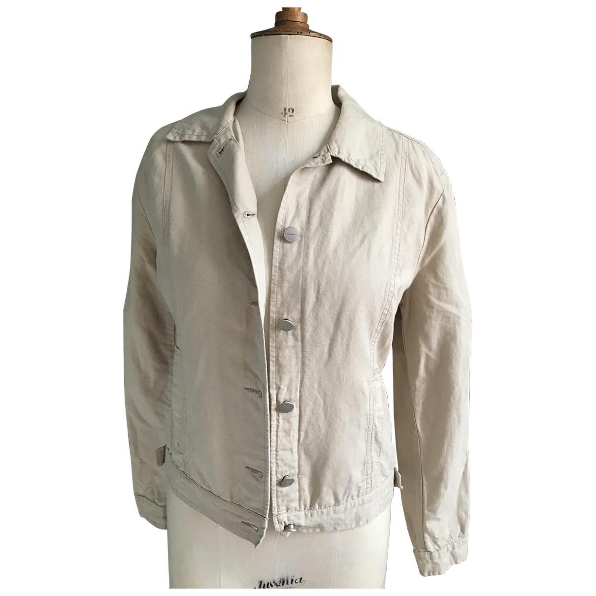 Trussardi Jeans \N Beige Cotton jacket for Women 44 IT