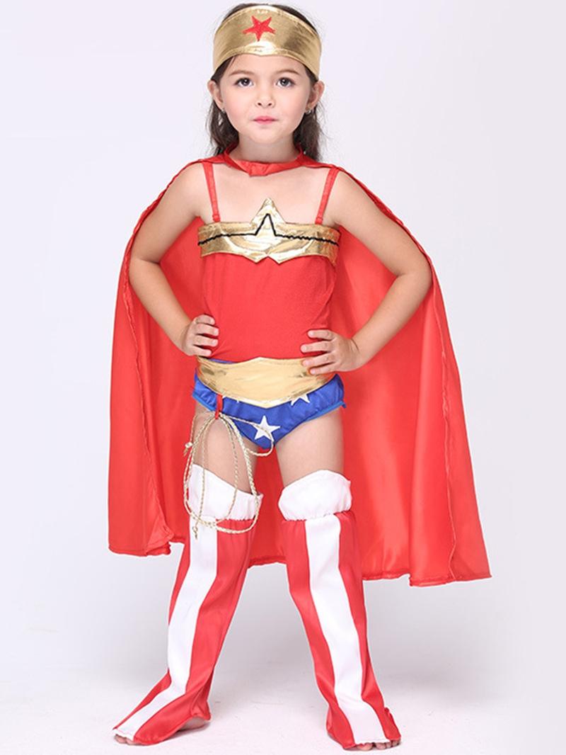 Ericdress Halloween Superwoman Grils Costume Suit