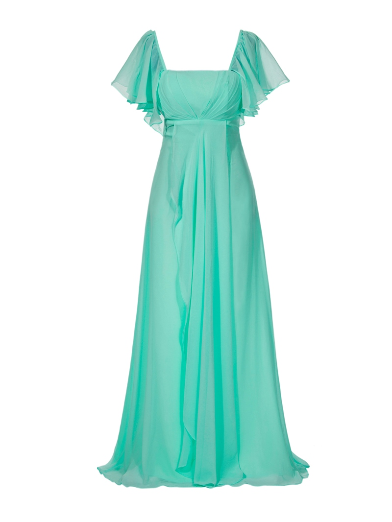 Ericdress A-Line Square Neckline Chiffon Long Prom Dress