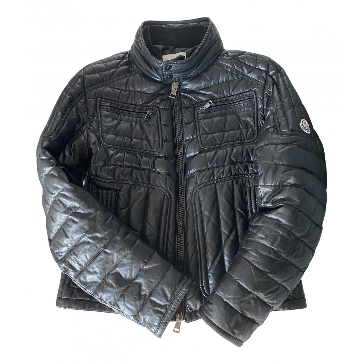 Moncler \N Black Leather jacket  for Men 2 0 - 6