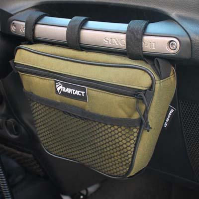 Bartact XXDHBFO Jeep Wrangler Dash Bag Passenger Grab Handle Dash Bag Fabric Olive Drab