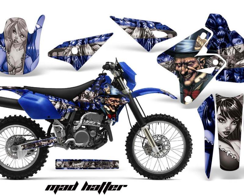 AMR Racing Dirt Bike Graphics Kit Decal Sticker Wrap For Suzuki DRZ400S 2000-2018áHATTER SILVER BLUE
