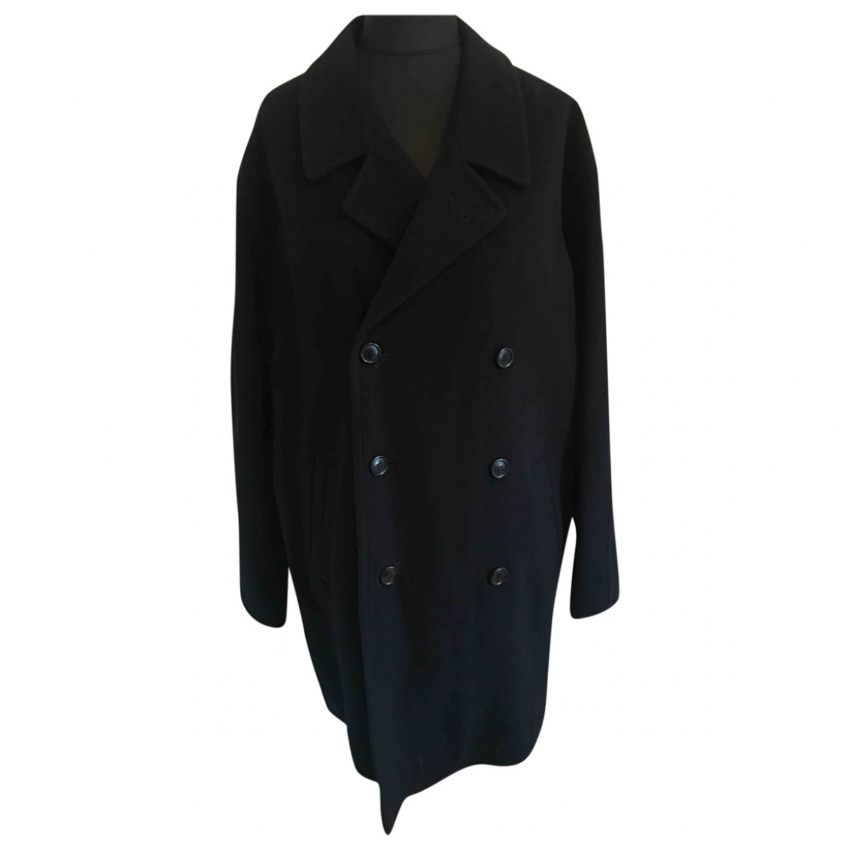 Non Signé / Unsigned \N Blue Wool coat  for Men 44 UK - US