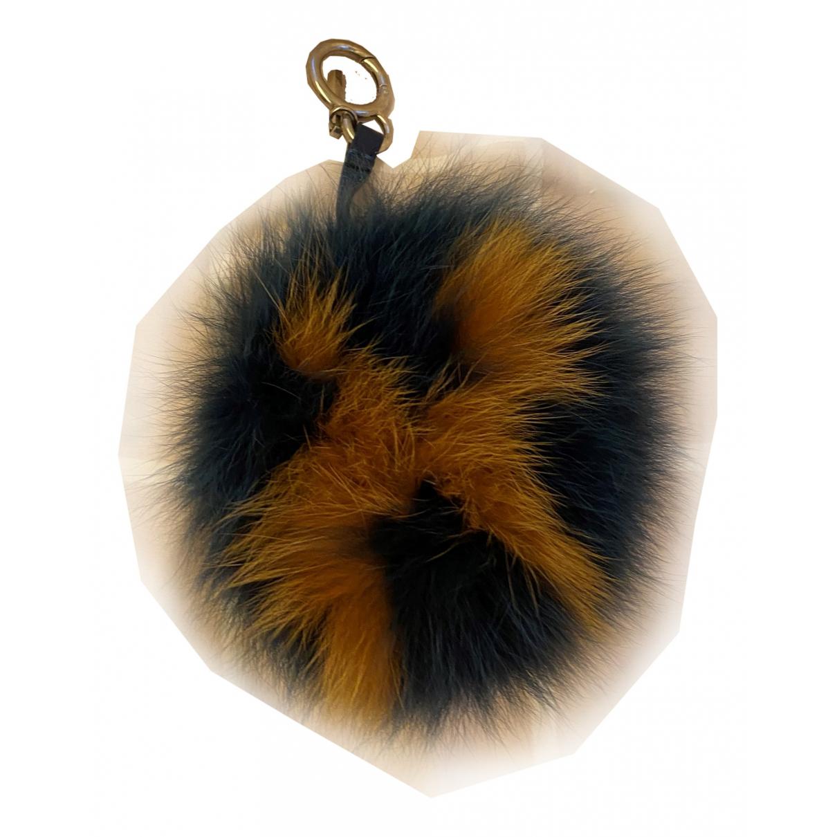 Fendi ABCharm Blue Fur Bag charms for Women \N