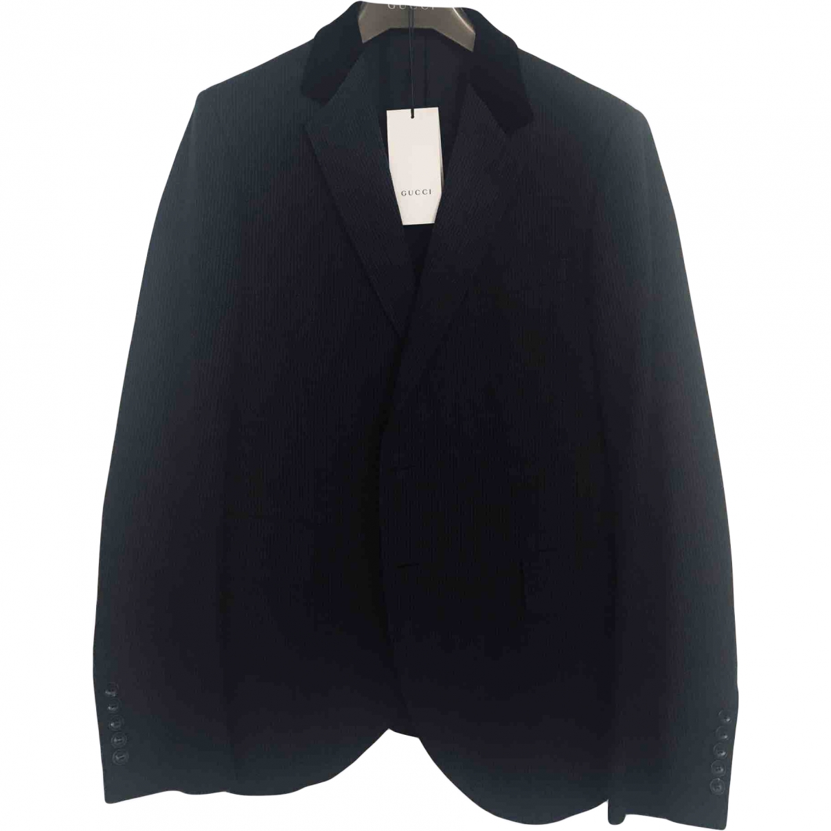 Gucci \N Black Cotton jacket  for Men 50 IT
