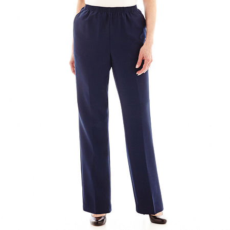 Alfred Dunner Pull-On Pants, 16 Petite Short , Blue