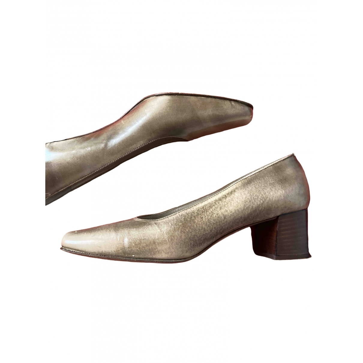 Non Sign?? / Unsigned \N Beige Leather Heels for Women 37 EU