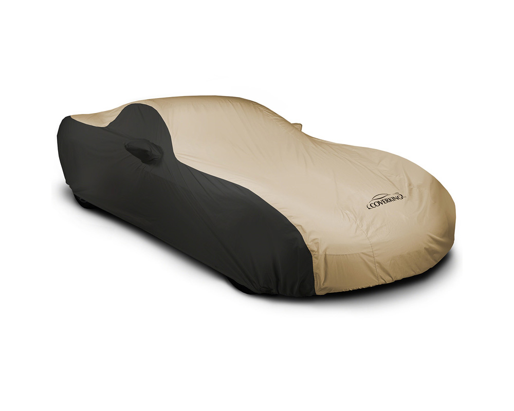 Coverking CVC2SP296MA9412 CVC2SP296 Stormproof 2-Tone Black Sides Tan Center Custom Car Cover Mazda MX-5 Miata 2016-2021