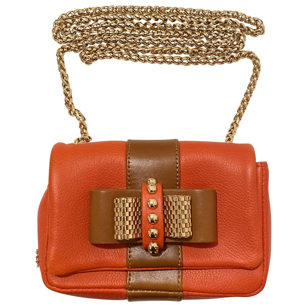Christian Louboutin Sweet Charity Orange Leather handbag for Women \N