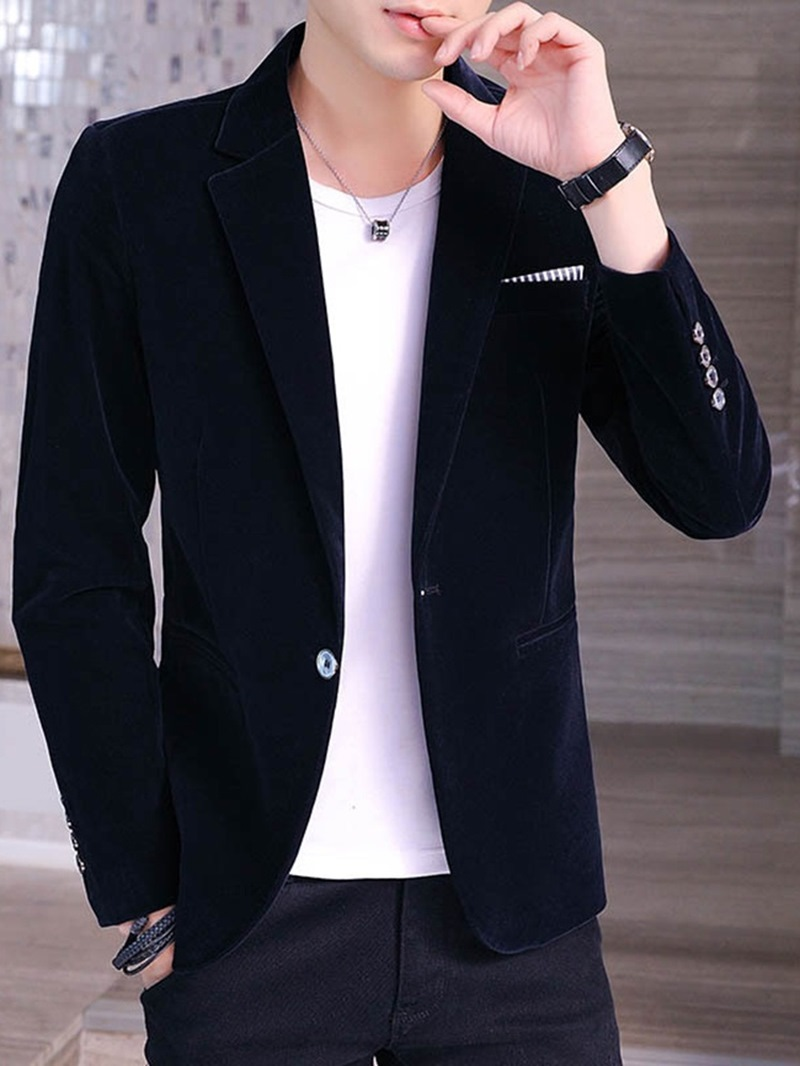 Ericdress Casual Notched Lapel Slim Men's Leisure Blazers