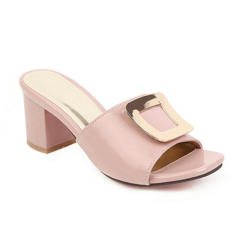 Ericdress Chunky Heel Flip Flop Slip-On Summer Slippers