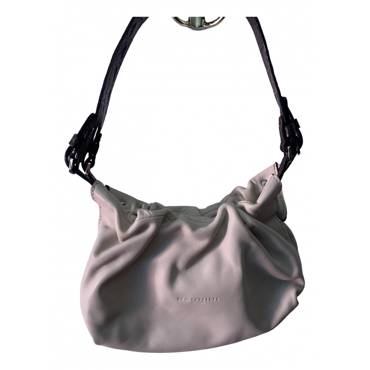 Non Signé / Unsigned \N White Leather handbag for Women \N