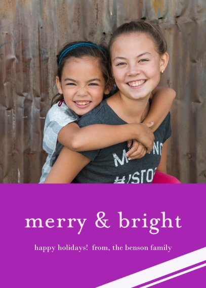 Christmas Photo Cards Flat Matte Photo Paper Cards with Envelopes, 5x7, Card & Stationery -Merry & Bright Holiday