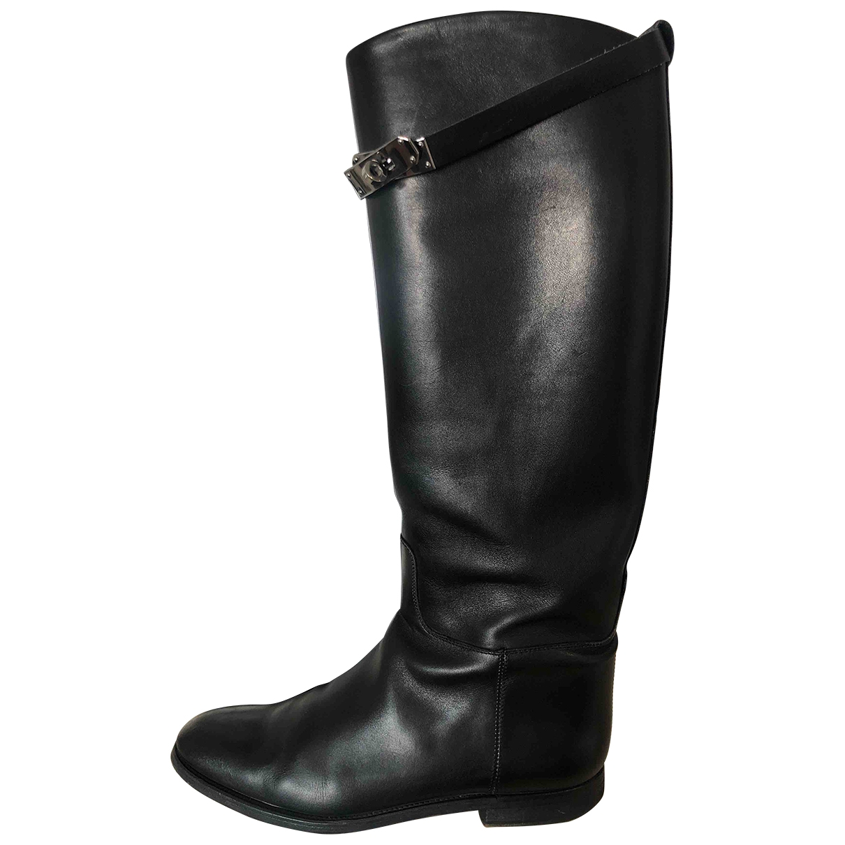 Hermès Jumping Black Leather Boots for Women 40 EU