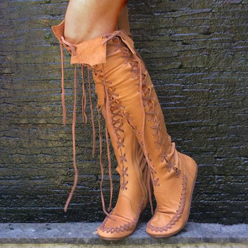 Ericdress Plain Round Toe Side Zipper Western Boots