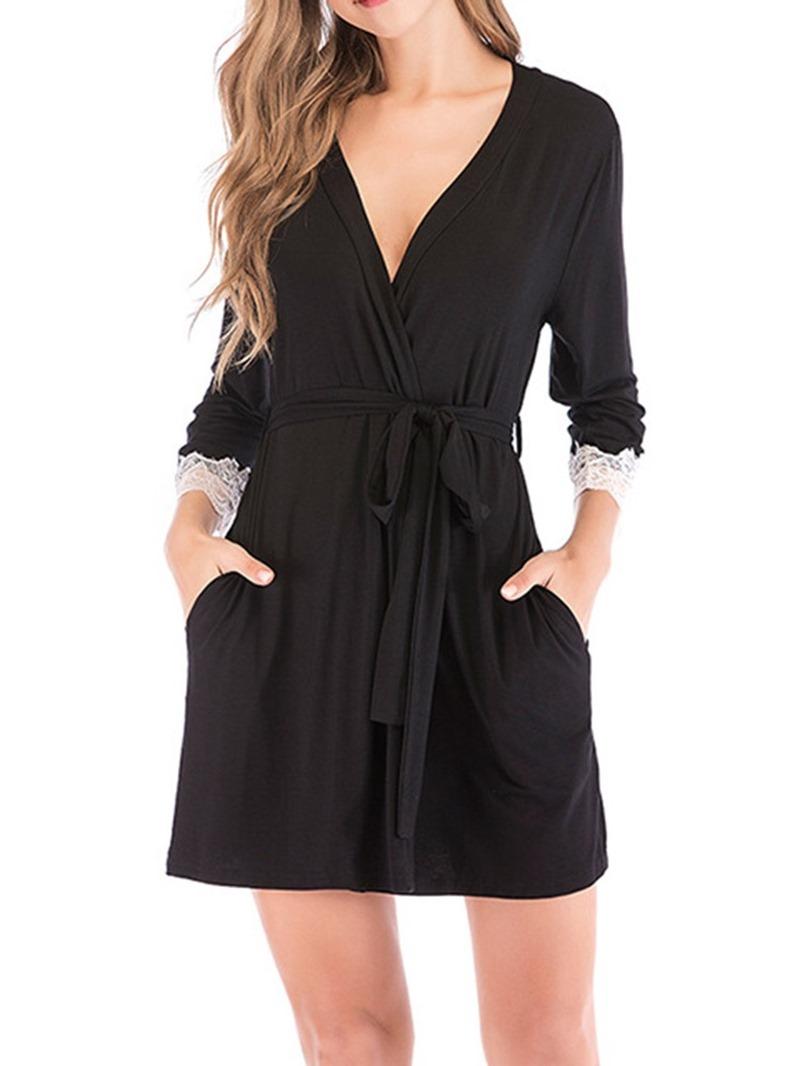 Ericdress Plain Lace Fashion Slim Night-Robes