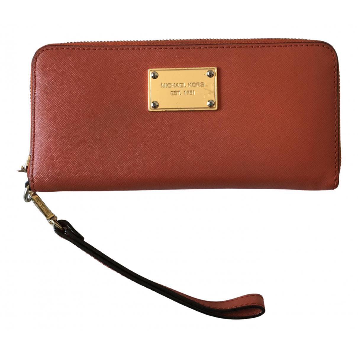 Michael Kors \N Orange Leather wallet for Women \N