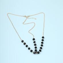 Gemstone Layered Chain Hair Accessory