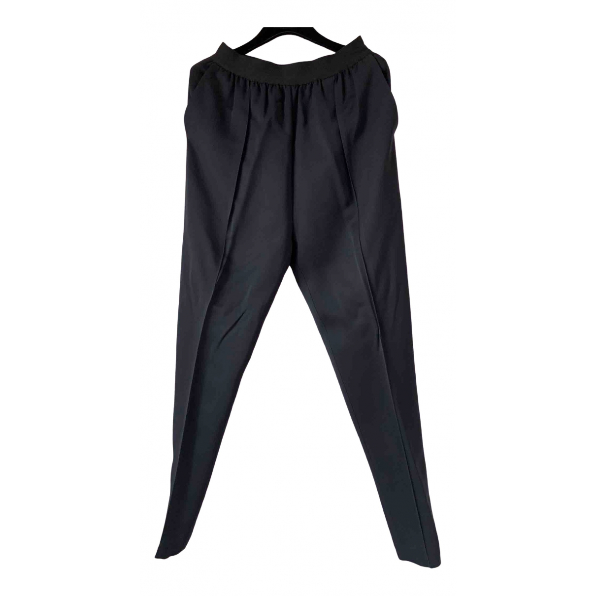 Celine \N Blue Trousers for Women 36 FR