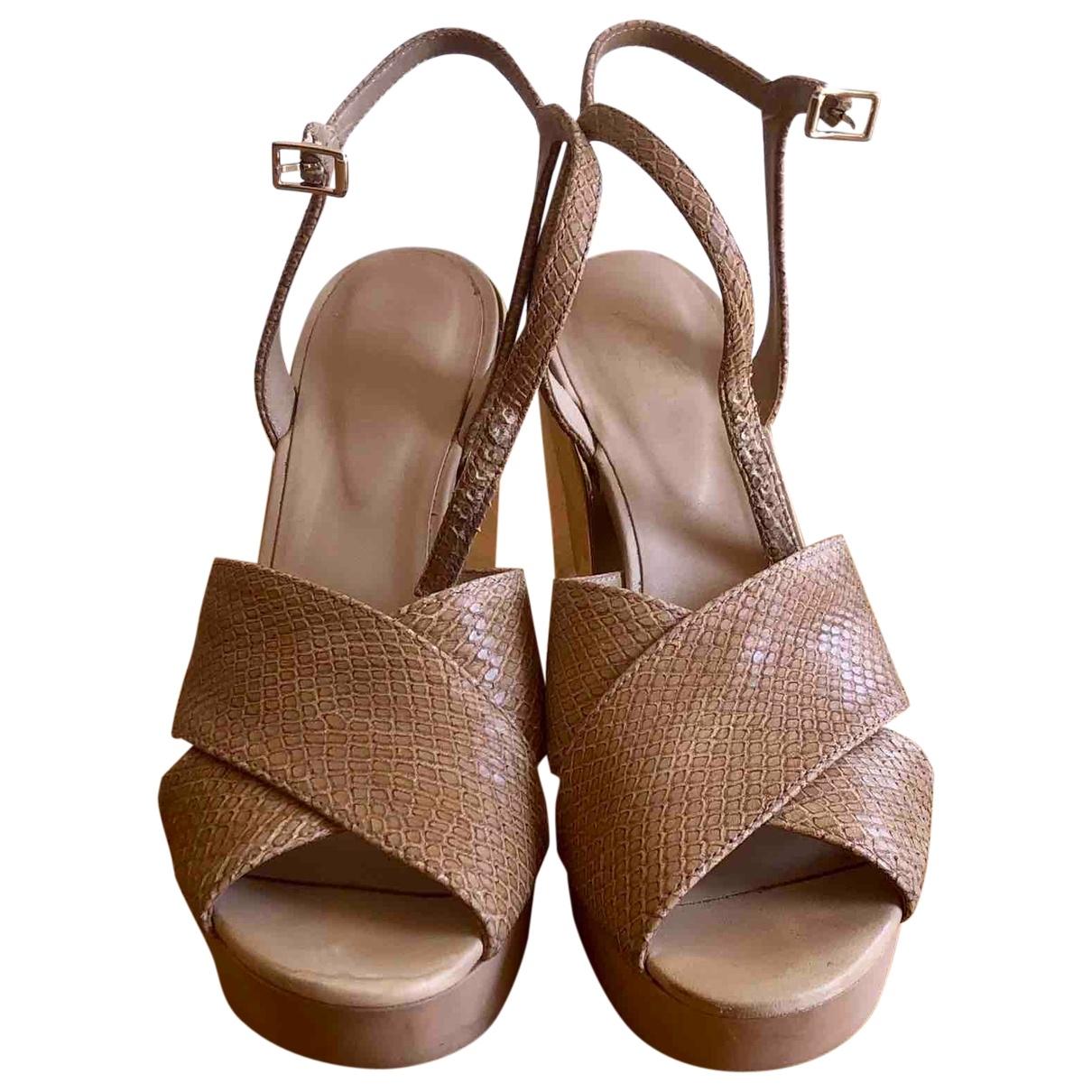 Hogan \N Gold Leather Heels for Women 38 IT