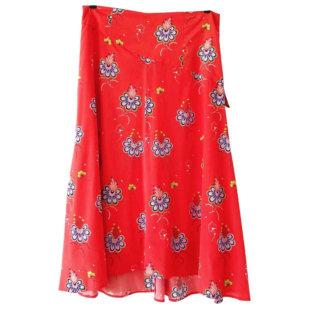 Julie Fagerholt Heartmade \N Red Silk skirt for Women 14 UK