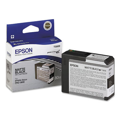 Epson T580800 cartouche d'encre UltraChrome originale noire mat pour l'imprimante Stylus 3800