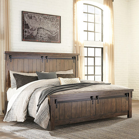 Signature Design by Ashley Leighton California King Bed Rails, One Size , Brown