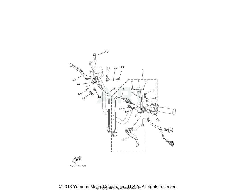 Yamaha OEM 3FA-83965-10-00 LEVER, LOCK