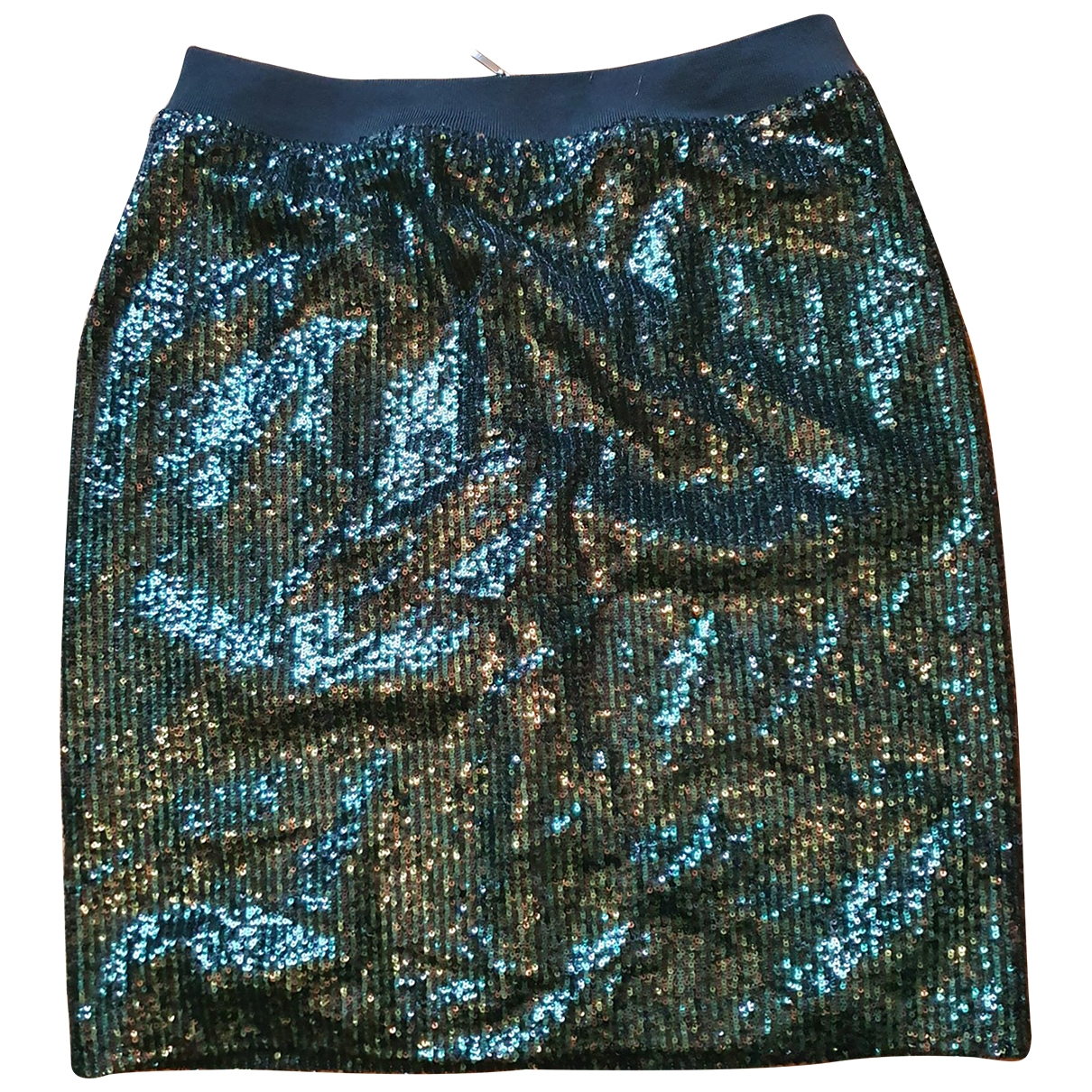 Non Signé / Unsigned \N Black Glitter skirt for Women 44 IT