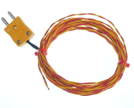 RS PRO Type K Thermocouple 10m Length, → +700°C