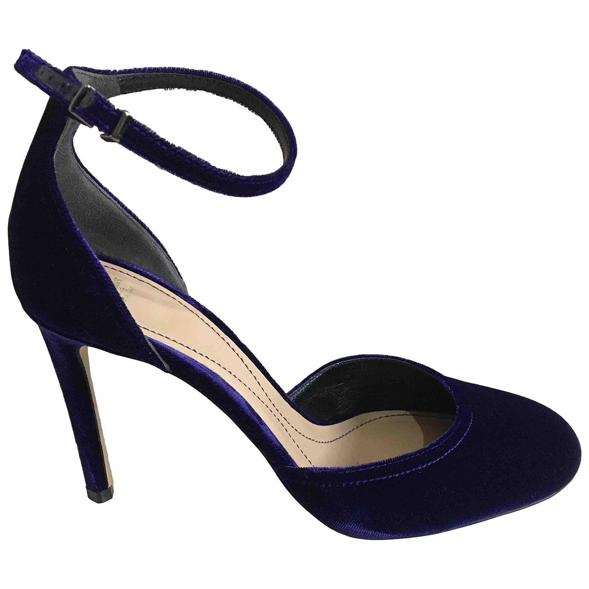 Giorgio Armani \N Purple Velvet Heels for Women 37.5 EU