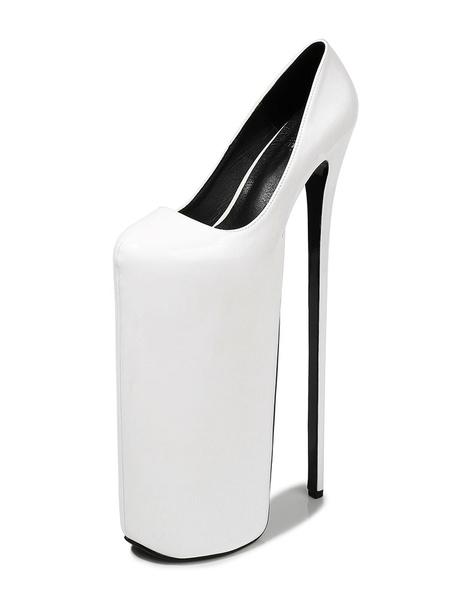 Milanoo Women Sexy Shoes Black Platform Sky High Heels