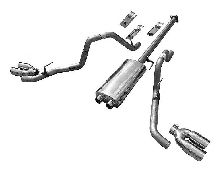 Solo Performance 993144SL Eco-Mach-44-XV Dual Catback Exhaust System - Quieter Version (145