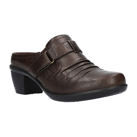 Easy Street Womens Mena Mules, 6 1/2 Medium, Brown