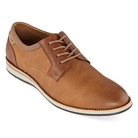 JF J.Ferrar Mens Thornton Oxford Shoes, 8 1/2 Medium, Brown