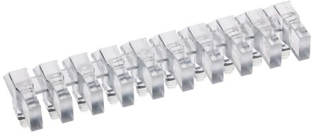 Mentor GmbH 1273.1010 MENTOR, PCB Mounted 10-Way Right Angle LED Light Pipe, Clear Rectangle Lens (10)