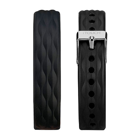 Itouch Slim Mens Black Watch Band-Itaslimstrap-Bkt, One Size , No Color Family