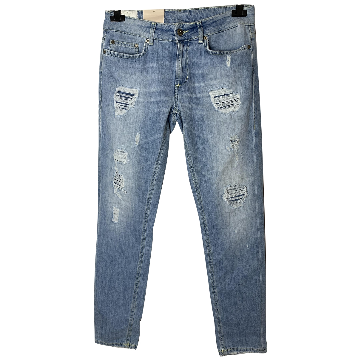 Dondup \N Blue Cotton - elasthane Jeans for Women 30 US