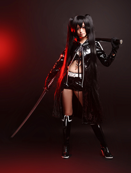 Milanoo Vocaloid Black Rock Shooter Cosplay Costume Halloween