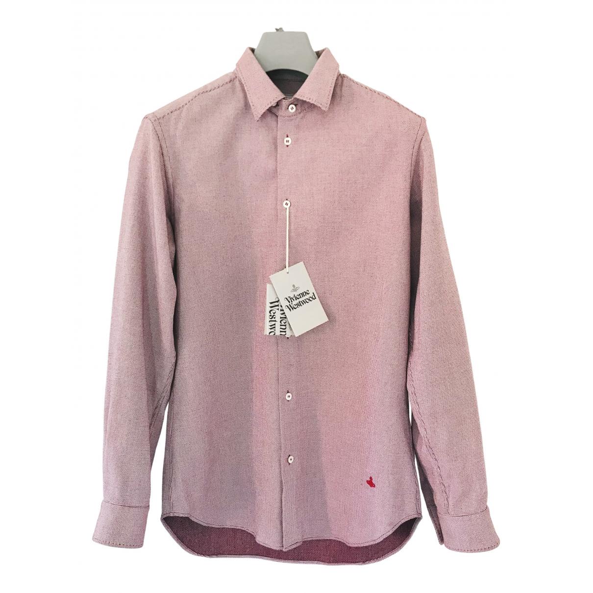 Vivienne Westwood \N Red Cotton Shirts for Men L International