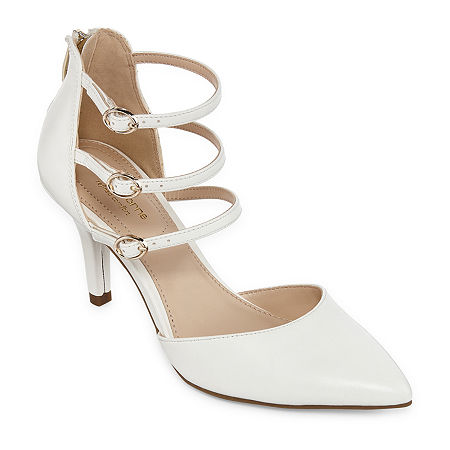 Liz Claiborne Womens Hara Pumps Spike Heel, 8 1/2 Wide, White
